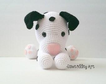 puppy crochet pattern, dalmatian crochet pattern, crochet pattern, amigurumi pattern