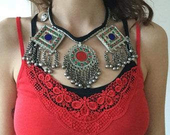 Kuchi necklace / kuchi necklace / tribal fusion / boho chic necklace
