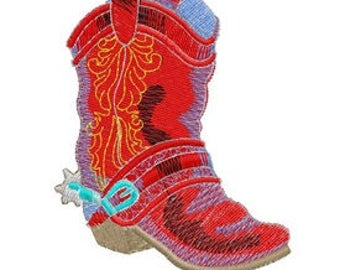 Boot Embroidery File