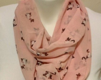 Fast Shipping Himalayan Cats scarf pink infinity scarf ready to ship great gift item
