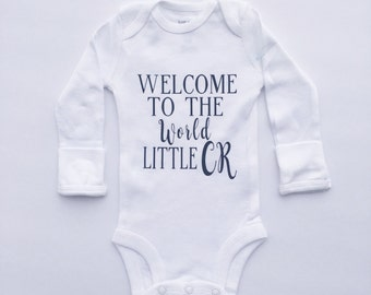 hello world - welcome baby - newborn clothing - hello world newborn outfit - baby hospital outfit - going home outfit - baby shower gift