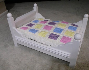 Handcrafted Doll Bed - Fits American Girl