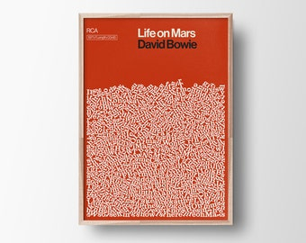 David Bowie, Life on Mars, Song Lyric Poster