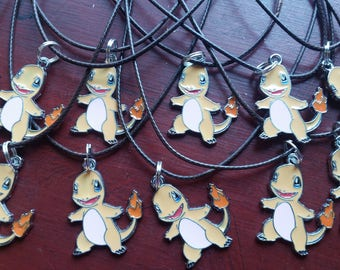 Lot of 10 Party Favors Necklaces Pokemon Charizard Free Shipping