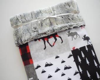 Baby Boy Blanket...minky baby blanket...deer baby blanket...crib blanket...stroller blanket...toddler blanket...nursery bedding...baby gift