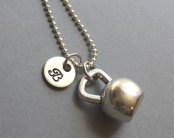 Kettle Bell Necklace-Crossfit Jewelry-Exercise Jewelry