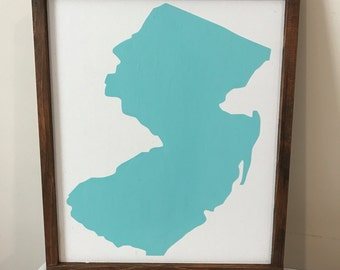 SALE! Rustic New Jersey State Sign