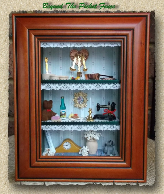 Mini Kitchen Room Box: 3D Wall Art/Shadow Box/Living Room Scene/Doll House/Kitchen