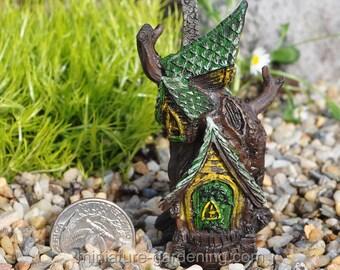 Micro Tree House for Miniature Garden, Fairy Garden