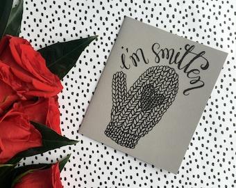 Valentine, I'm Smitten, Printable Valentine, Smitten Greeting Card