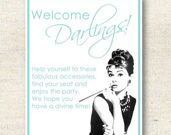 Breakfast at Tiffany's Bridal Shower Sign | INSTANT DOWNLOAD