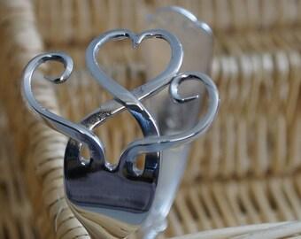 Heart Bangle, Fork Bangle, Fork Bracelet, Fork jewellery, Cutlery Bangle, Cutlery Jewellery, Cutlery Jewelry,Love,valentines, Handmade gift,