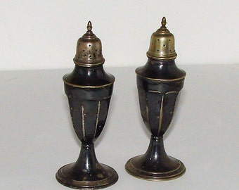 Old Evans Salt Pepper Shakers Need Cleaning So They Shine