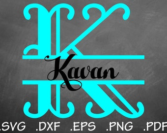 Harry SVG Split Font Design Files, Silhouette Studio, Cricut Design, Brother Scan Cut, Scal, dxf Files, SVG Font, EPS File, Font, Initials