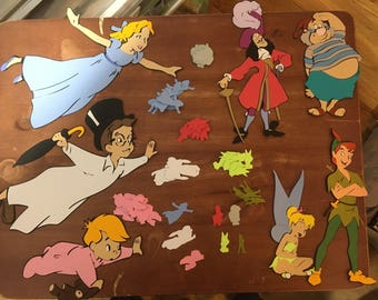 Set of 7 Peter Pan die cuts with 100 pieces of Peter Pan Character Table Confetti