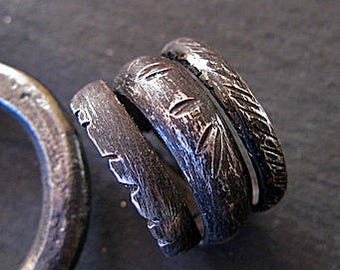 Mens Wedding Band Size 9 Viking Jewelry Viking Wedding Ring Black Ring Unique Mens Wedding Band Mens Wedding Rings Rustic Mens Wedding Bands