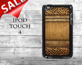 Amazing Ethnic wooden carving art - SALE iPod Touch 4G case - ornamental wood carvings phone iPod Touch case,  iPod cover