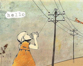 Card 'Hello', set of 4