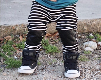 Trendy baby boy clothes / Hipster baby boy pants / Hipster boy leggings / Trendy toddler boy clothes / Stripe baby boy leggings