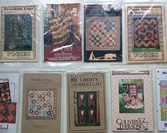 9 quilt patterns collection D