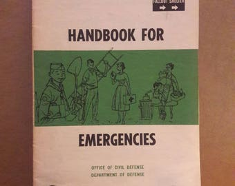 Handbook For Emergencies, Fallout Shelter, Department of Defense,
