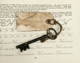 Collectible Antique French skeleton key #204, French Keys, Old Skeleton Keys, Rustic Keys, French decor, french country house, castle