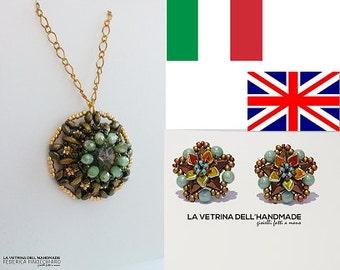SPECIAL OFFER!! Beading pattern. Etna pendant and Etoile earrings