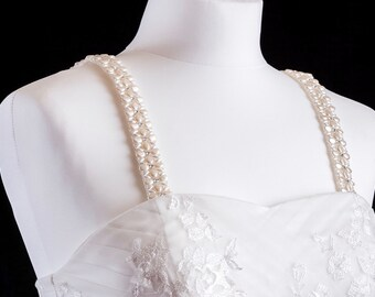 Pearl Beaded Attachable Bridal Straps - DELILAH