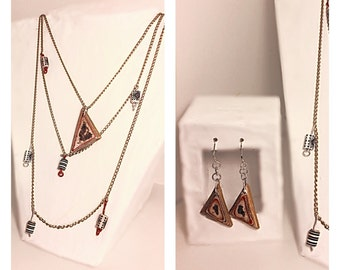 One of a kind Necklace and Earring set