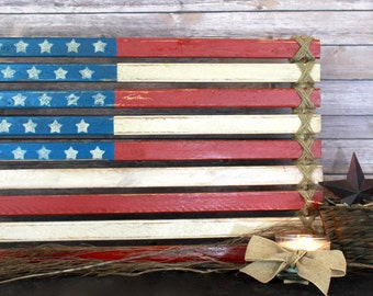 Paneled American Flag Wood Art