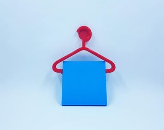Sticky Note Clothes Hanger Holder - Great for the Office -  3D Printed - Sticky Pad Holder - Sticky Note Holder - Office supplies -