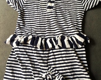 Retro Baby Romper,Summer Baby Jumper,Summer Baby Jumpsuit,Baby Swimsuit,Baby Bathing Suit,Striped Baby Romper,Summer Baby Outfit,Summer Baby