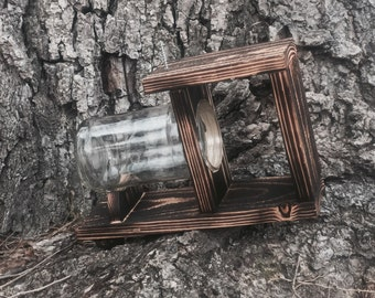 Small squirrel feeder with glass jar
