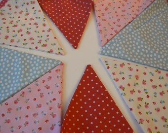 Fabric Party garland Banner birthday bunting  Baby shower handmade in Paris France