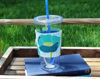 Reusable Fabric Cup Cozy, Cold Cup Cozy, Cold Beverage Cup Cozy, Cold Beverage Sleeve, Teacher Gift, Gift Idea