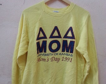 Vintage 90s University Of Kansas Mom's Day 1991 Sweatshirt