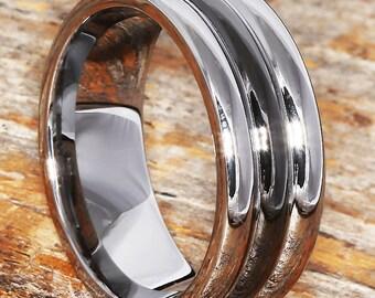 9mm tungsten ring black ceramic inlay comfort fit ceramic wedding band black