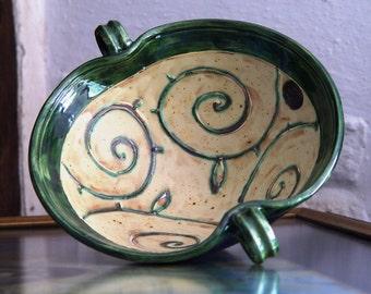 Handmade Ceramic Bowl, Ceramics and Pottery Fruit Bowl, Earthen Bowl, Floral Ceramic Serving Bowl, Modern Fruit Bowl, Floral Table Decor