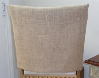 Burlap Jute, Rustic Chair Back Covers, Weddings, Parties, Country Kitchens, Custom Sized, Seat Covers, Dining Chairs, Bar Stools