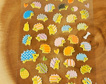 Hedgehog Stickers, Hedgehogs, Scrapbooking Decal, Garden Creature Stickers, Woodland Stickers, 3D Stickers