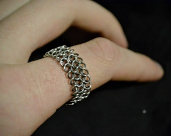 Micro Chain Mail Stainless Steel Flexable Ring