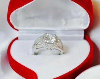 Round Cut ,diamond engagement ring, solitaire engagement ring,wedding ring, platinum ring, fine rings, platinium ring, handmade ring