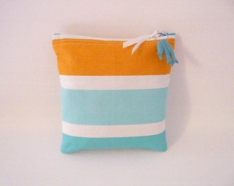 Cover special pool 20 x 20 cm stripes transat (turquoise)