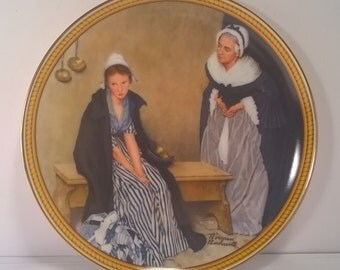 """Vintage Norman Rockwell Decorative Wall Plate """"Words of Comfort"""""""