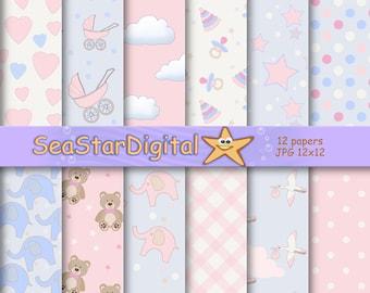 Girl digital paper,girl digital pattern,digital paper girl,printable girl,scrapbook girl,scrapbook paper,girl paper scrapbook,digital girl