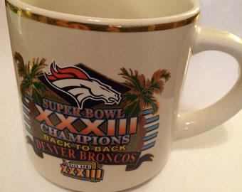 Collectible-1998 Broncos Super Bowl Mug.