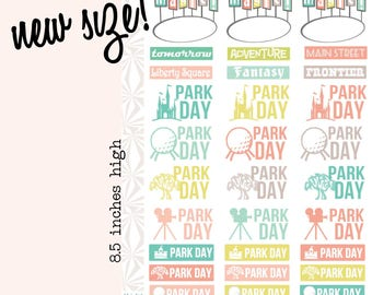 Theme Park Day Planner Stickers  | Vacation Planner Stickers | Travel Planner Stickers (#001)