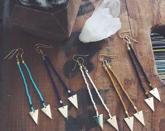 Beaded Boho Arrow Dangle Earrings *SALE*