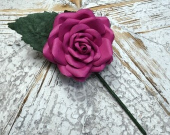 Pink Buttonhole Boutonnière Pink Groom Groomsmen Best Man Wedding Flowers - other colour/paper options & matching bouquet available