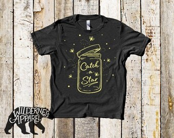 NEW ~ Catch a Star ~ Kids Crew Tee ~ Available In Vintage Colors